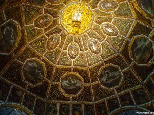 Beautiful ceiling in the hall in The Palácio Nacional de Sintra