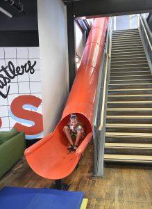 Slide in Communitech, Waterloo, Ontario