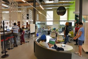 Office space at Communitech in Kitchener, Ontario