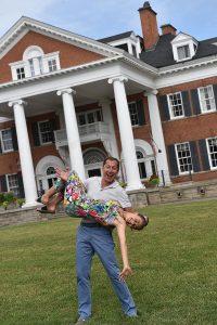 Fun on the lawn at Langdon Hall, Cambridge, Ontario