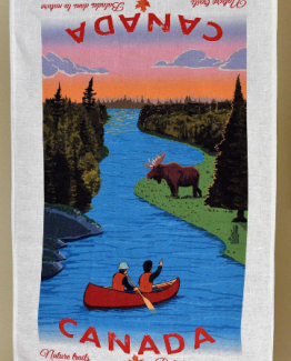 Canada Nature Trails Linen Tea towel